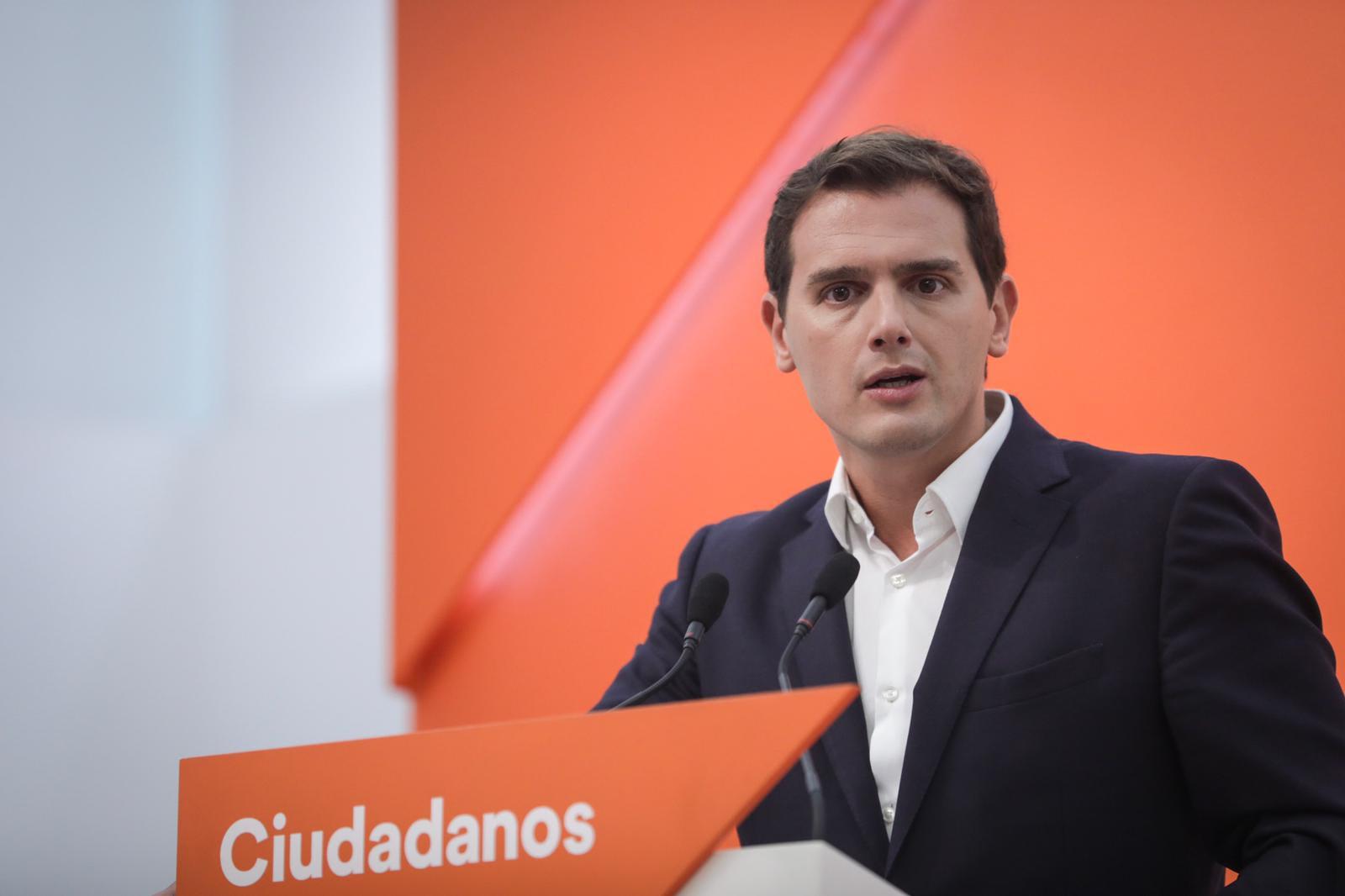 Rivera: 'Los PGE están en manos de Torra, Iglesias, Rufián quienes tratan de romper España y podemizar la economía'