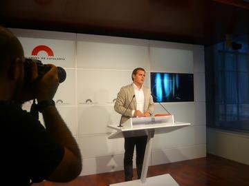 Albert Rivera critica la velocidad de 'tortuga' del Parlament por dilatar el proceso de debate de la dación en pago